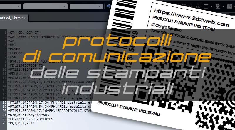 stampanti industriali protocolli